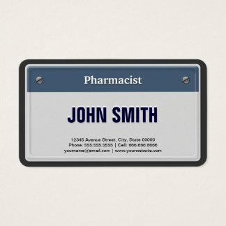 Cartão De Visitas Matrícula legal do carro do farmacêutico