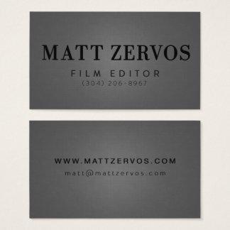 Cartão De Visitas Matt Zervos