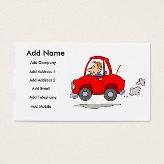 Cartão De Visitas Mecânicos ou negócio de Salesmans do carro/cartão