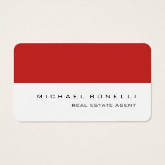 Cartão De Visitas Mediador imobiliário branco vermelho do canto