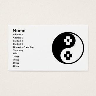 Cartão De Visitas Medicina veterinária de Yin Yang