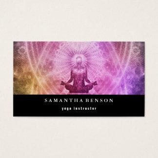 Cartão De Visitas Meditação elegante da ioga do logotipo