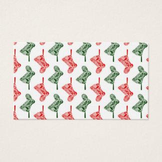 Cartão De Visitas Meias do Natal de Paisley