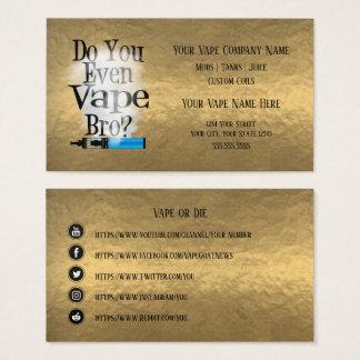 Cartão De Visitas Meios de bronze do Social do negócio de VAPE  
