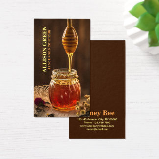 Cartão De Visitas Mel facial natural da abelha da aromaterapia de