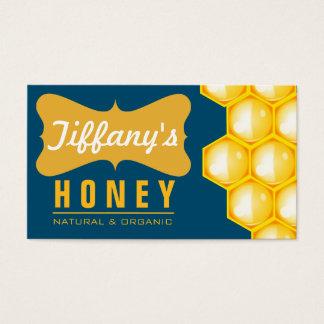 Cartão De Visitas Mel puro | orgânico natural da fazenda do mel | do