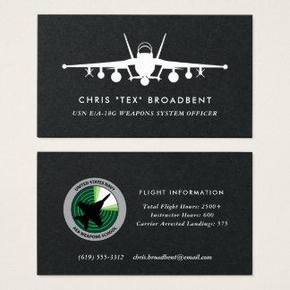 Cartão De Visitas Membro de grupo do rosnador do remendo EA-18G do