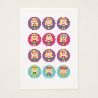 Cartão De Visitas Menina de Hula loura