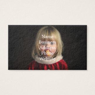 Cartão De Visitas Menina do Natal - criança do Natal - menina bonito