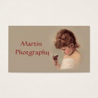 Cartão De Visitas Menina do vintage