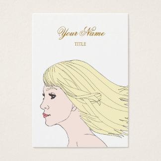 Cartão De Visitas Menina elegante