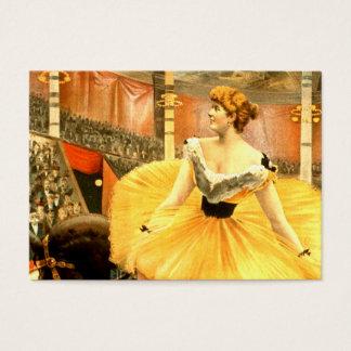 Cartão De Visitas Menina retro do circo do T