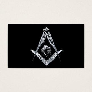Cartão De Visitas Mentes maçónicas (prateadas)