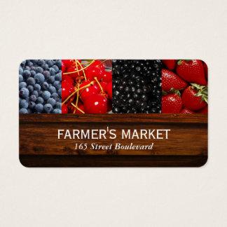 Cartão De Visitas Mercado misturado das bagas/fazendeiros