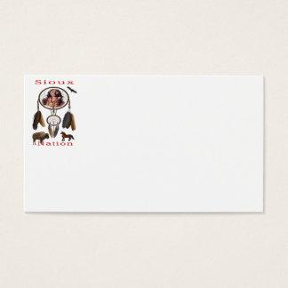Cartão De Visitas Mercnandise da nação de Sioux