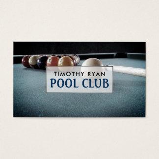 Cartão De Visitas Mesa de bilhar, clube da piscina