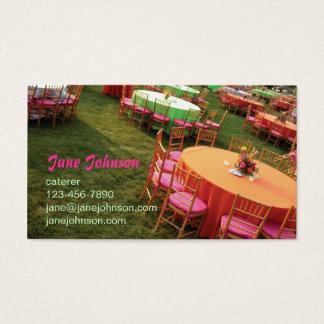 Cartão De Visitas mesas exteriores do partido