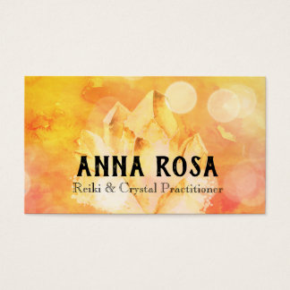 Cartão De Visitas Mestre de cristal de Reiki da ioga de Reiki do