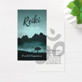 Cartão De Visitas Mestre de Reiki e instrutor naturais da mediação