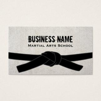 Cartão De Visitas Mestre do cinturão negro do Dojo do karaté da