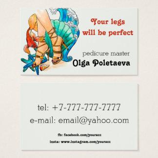 Cartão De Visitas Mestre do Pedicure