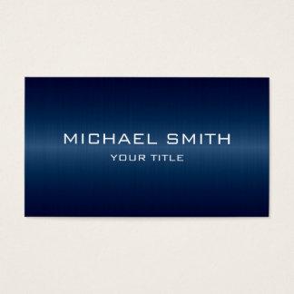 Cartão De Visitas Metal de aço inoxidável azul escuro do monograma