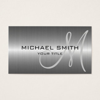 Cartão De Visitas Metal de aço inoxidável de prata