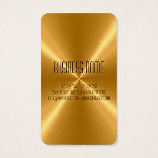 Cartão De Visitas Metal do aço do ouro