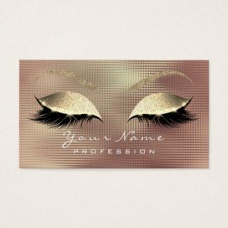 Cartão De Visitas Metal do ouro do brilho dos chicotes dos olhos da