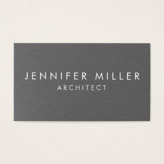 Cartão De Visitas Metal escovado liso moderno simples profissional