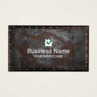 Cartão De Visitas Metal oxidado do vintage do ícone da casa da