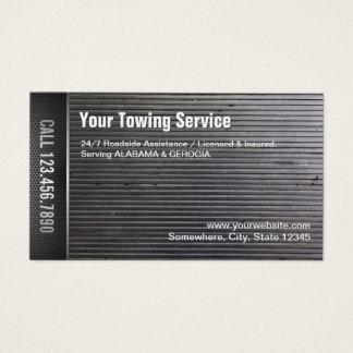 Cartão De Visitas Metal profissional do Grunge do serviço de reboque