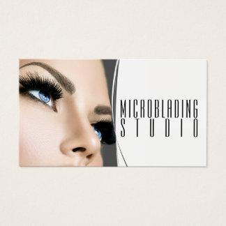 Cartão De Visitas Microblading moderno, sobrancelhas, composição
