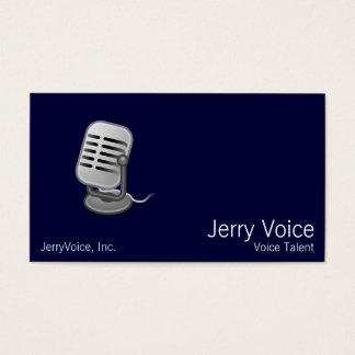 Cartão De Visitas Microfone