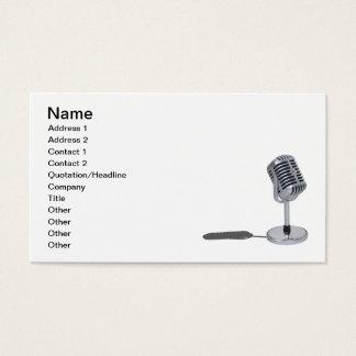 Cartão De Visitas Microfone do comprimido
