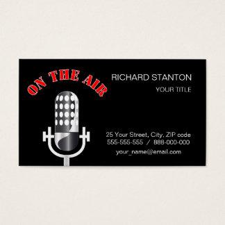 Cartão De Visitas Microfone do vintage