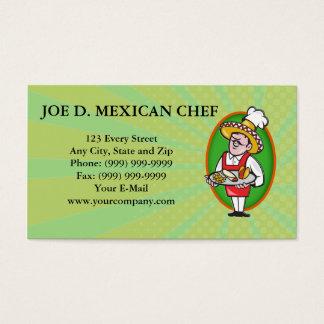 Cartão De Visitas Microplaquetas de milho mexicanas do Burrito do