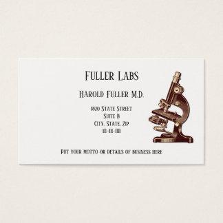 Cartão De Visitas Microscópio do vintage