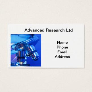 Cartão De Visitas Microscópio poderoso para a pesquisa e a ciência