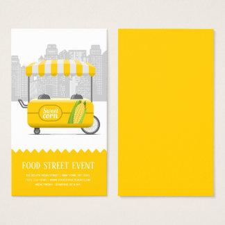 Cartão De Visitas Milho doce da rua da comida