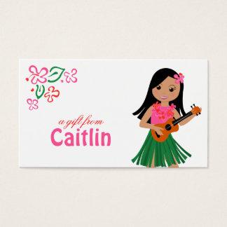 Cartão De Visitas Mim Hula-Amor você ukulele!