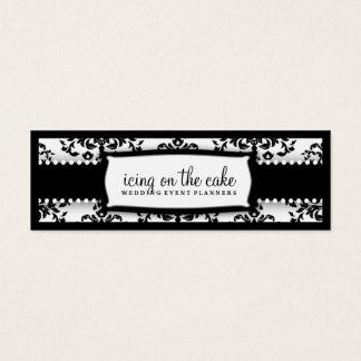Cartão De Visitas Mini 311 cereja sobre o bolo Tage branco preto