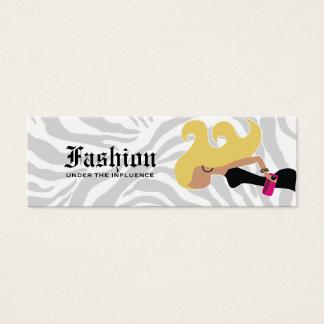 Cartão De Visitas Mini 311- Tag louro do Fashionista