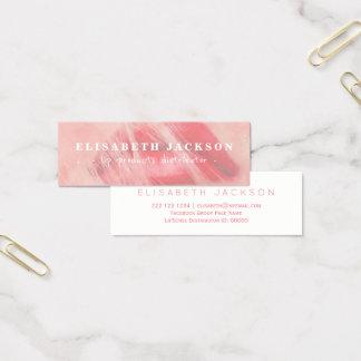 Cartão De Visitas Mini A aguarela cora distribuidor cor-de-rosa do