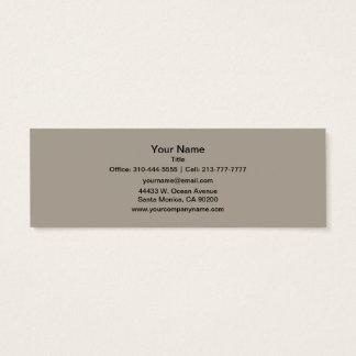 Cartão De Visitas Mini A cor sólida de Greige personaliza-o