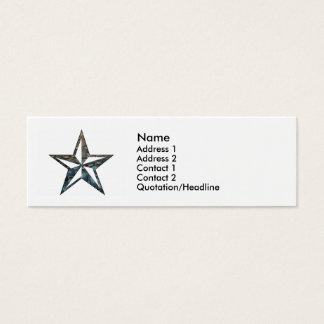 Cartão De Visitas Mini a estrela náutica