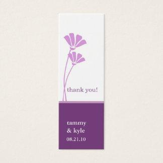 Cartão De Visitas Mini A lavanda floresce Tag do presente