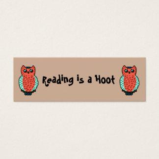 Cartão De Visitas Mini A leitura é marcador de uma buzina