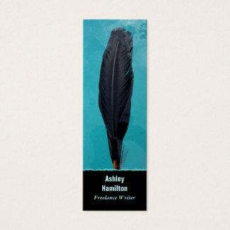 Cartão De Visitas Mini A pena do corvo