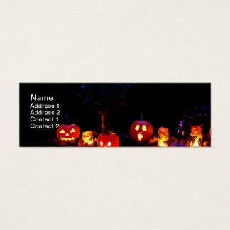 Cartão De Visitas Mini Abóboras do Dia das Bruxas
